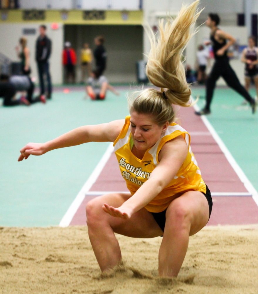 Winthrop native Rachel Ingram has enjoyed a smooth transition from high school to the University of Southern Maine. Ingram, a freshman, recently was named Rookie Field Athlete of the Week in the Little East Conference.