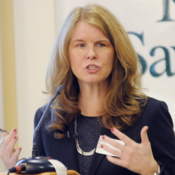 Maine Department of Health and Human Services Commissioner Mary Mayhew speaks about state assistance for the poor Wednesday during a Kennebec Valley Chamber of Commerce breakfast in Augusta.