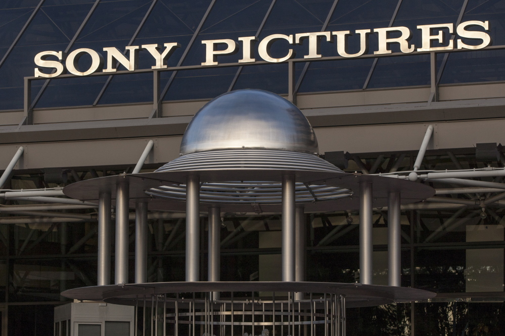 """An exterior view of the Sony Pictures Plaza building in Culver City, Calif., on Friday. President Barack Obama declared Friday that Sony """"made a mistake"""" in shelving the satirical film, """"The Interview,"""" about a plot to assassinate North Korea's leader. He pledged the U.S. would respond """"in a place and manner and time that we choose"""" to the hacking attack on Sony that led to the withdrawal. The FBI blamed the hack on the communist government."""