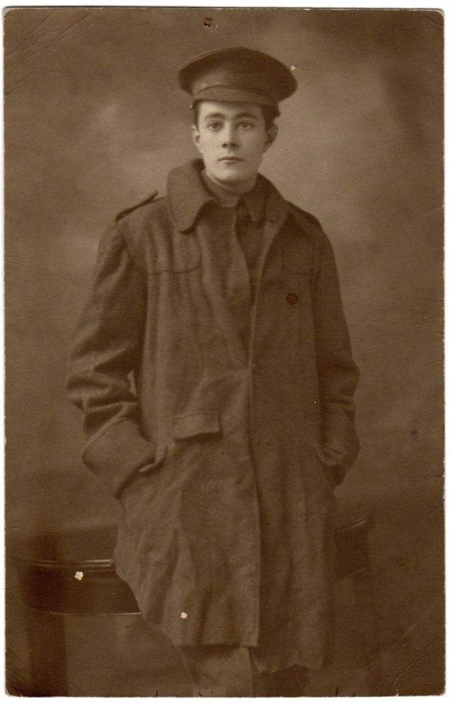In this undated image provided by the Henry Williamson Society, World War I soldier Private Henry Williamson poses in his uniform. Williamson, served with the London Rifle Brigade in Ploegsteert, Belgium during December of 1914 and sent a letter home to his mother detailing his life in the trenches and outlining events during the Christmas Truce.