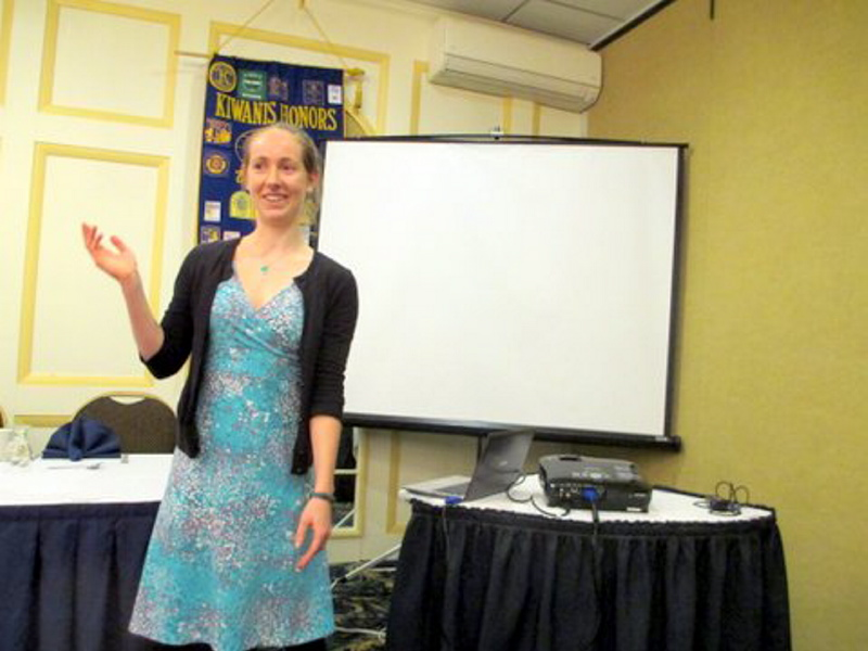 FoodCorps service member Caroline P. Moore recently spoke to the Augusta Kiwanis Club about nutritious food preparation and tips on conducting cafeteria taste tests, according to a news release. Moore described ongoing, hands-on lessons being taught to local students.