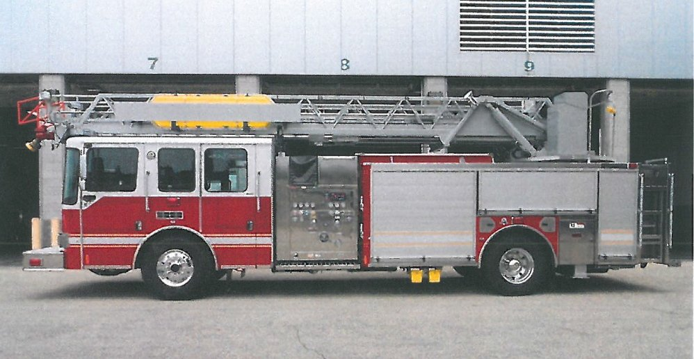 The aerial firetruck bought by Wilton for $500,000.