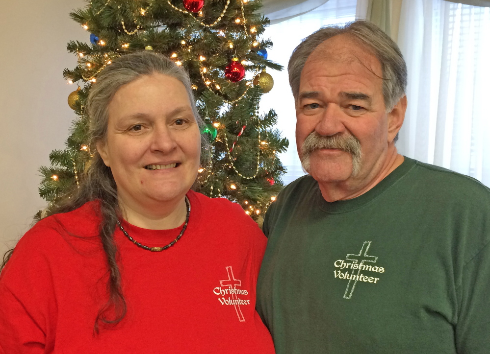 Ziggy Lawrence and his wife, Kim Lawrence, of Albion, are two of the organizers behind the Central Maine Family Christmas Dinner, which will be held Thursday at the Waterville Elks Lodge.