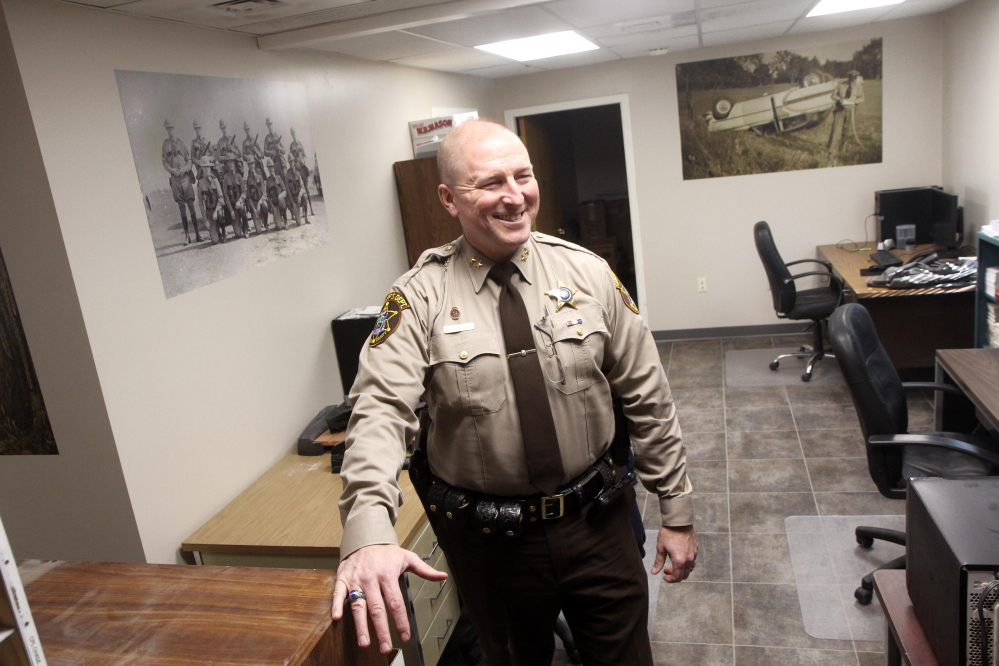Franklin County Sheriff Scott Nichols talks about the renovations to his office in Farmington.
