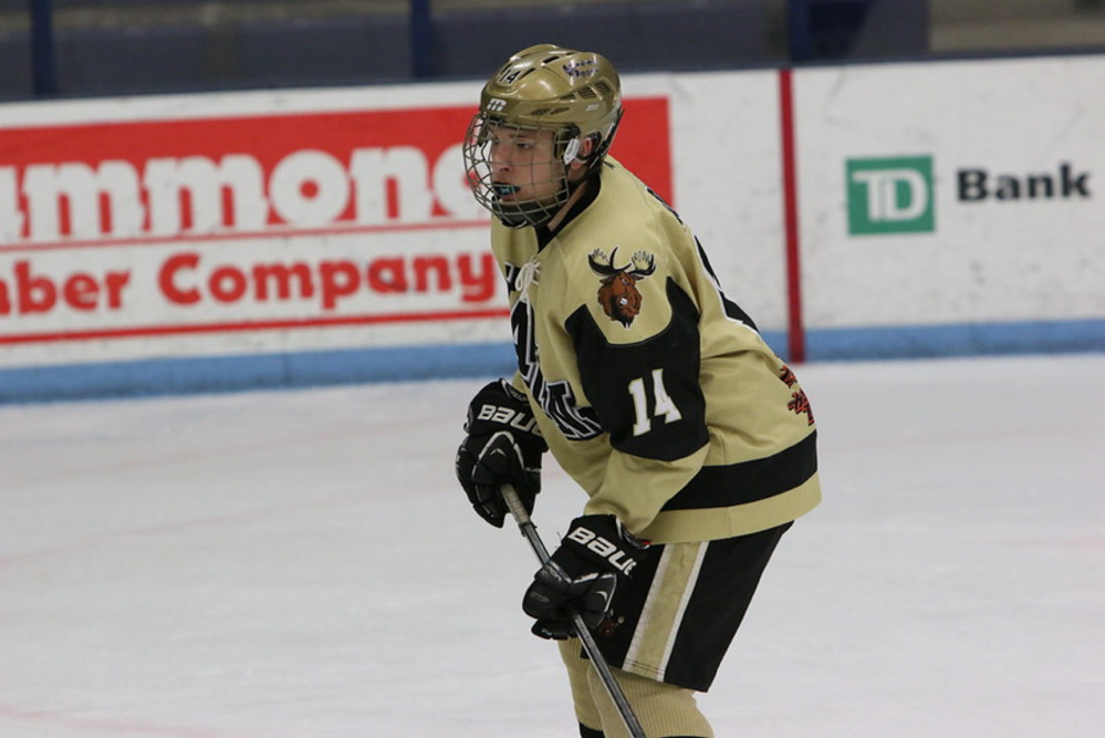 Casey Cloutier, 14, who died in a car accident Tuesday along with his father, Gus, was an avid hockey player.