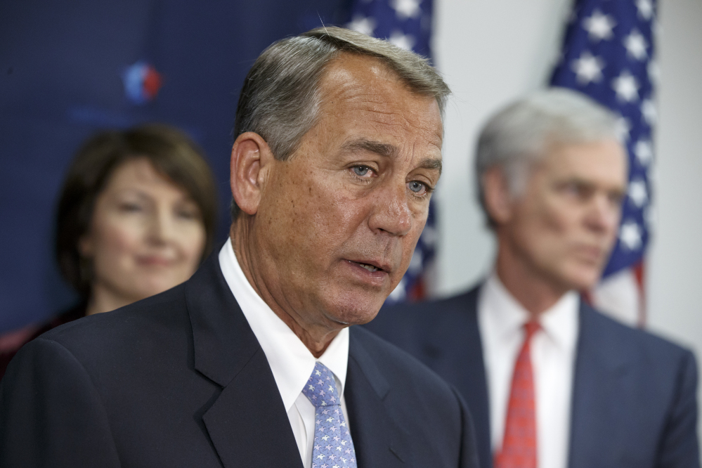 House Speaker John Boehner said Tuesday that he'll call for a vote on a resolution to denounce President Obama's executive actions on immigration, while also supporting a bill to fund most of the government except Homeland Security. The Associated Press