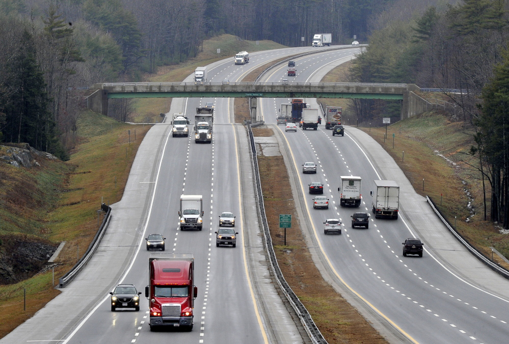 The 20 percent toll hike enacted two years ago for users of the 109-mile-long Maine Turnpike generated an additional $20 million in revenues in 2012. Maine motorists this year are on track to pay $42.4 million in tolls, $5.6 million less than two years ago. John Patriquin/2011 Press Herald file