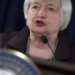 Speaking at the Federal Reserve in Washington on Wednesday, Chair Janet Yellen states that she sees no interest rate hike in the first quarter of 2015.