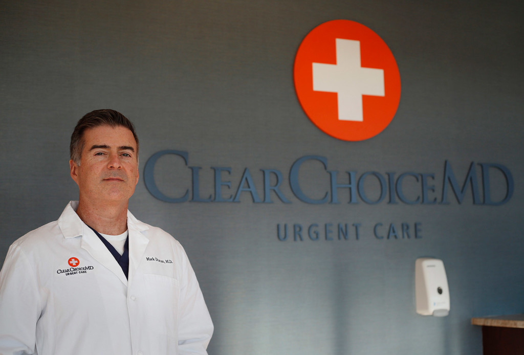 Mark Durcan is one of the doctors at ClearChoice MD, a new urgent care center in Scarborough. ClearChoice MD, which already operates six centers in New Hampshire and Vermont, is the only urgent care center in Maine that is not affiliated with a Maine hospital. Photo by Derek Davis/Staff Photographer