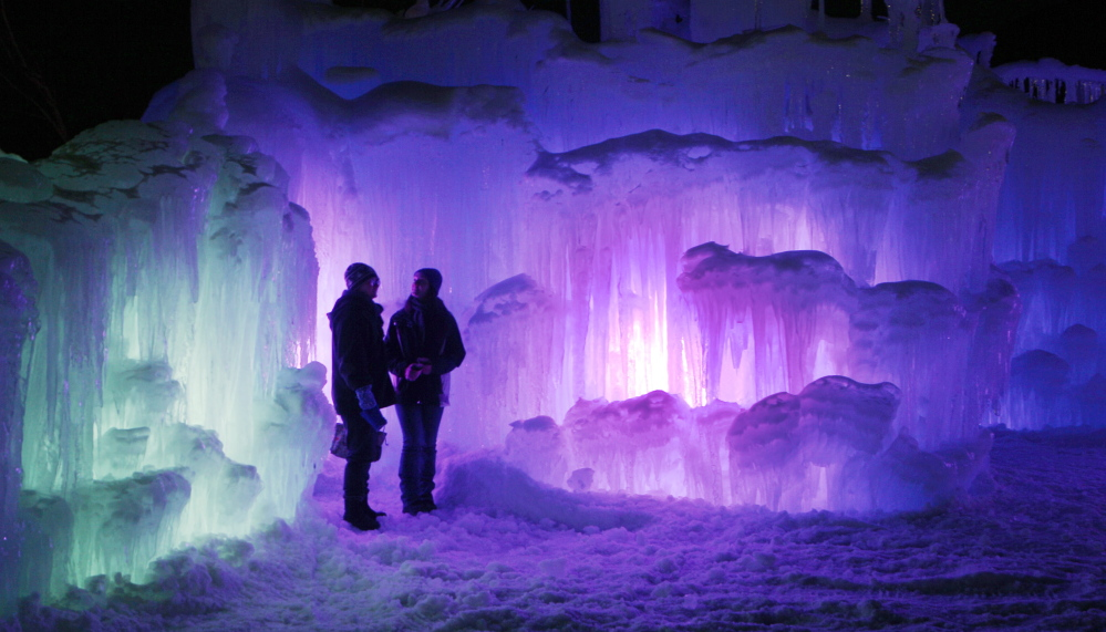 (FILE) An ice castle built for the 2013-2014 winter season attracted thousands of visitors to the base of the Loon Mountain ski resort in Lincoln, N.H. The Associated Press