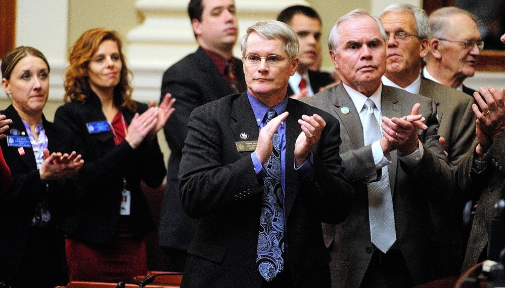 Former Sen. Patrick Flood, R-Winthrop, shown here in this 2013 file photo, is scheduled to receive a Kennebec Valley Chamber of Commerce Special Service award Jan. 23 for his work in the Legislature.