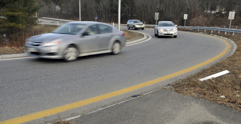 State officials hope a planned realignment of the southbound offramp that brings traffic off Interstate 95 and onto Western Avenue's westbound lanes at exit 109B in Augusta will reduce the number of accidents there.