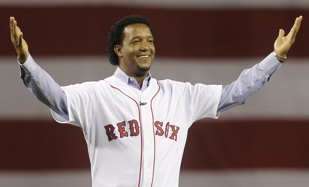 Former Boston Red Sox pitcher Pedro Martinez was elected Tuesday to the National Baseball Hall of Fame. Joining him will be pitchers Randy Johnson and John Smoltz, as well as second baseman Craig Biggio.