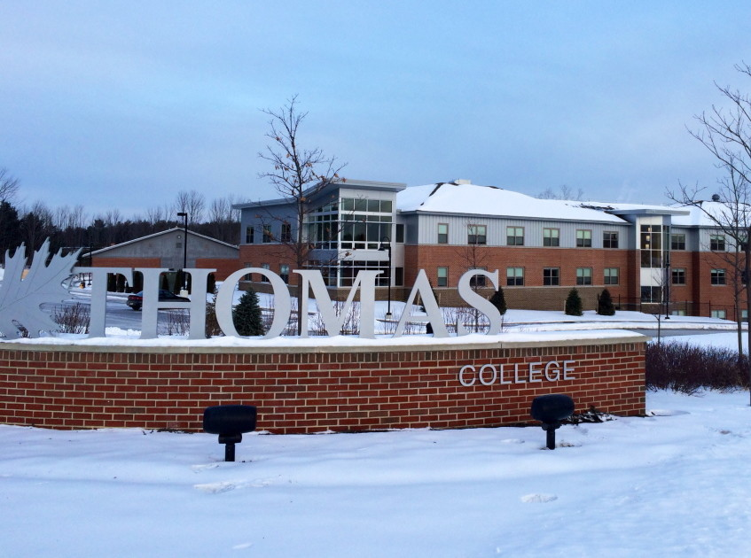 Thomas College in Waterville will no longer require applicants to submit standardized test scores. Admissions officials will look more closely at high school transcripts and activities in making admissions decisions.