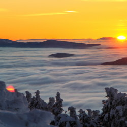 An incredible weather inversion took place from the top of Saddleback Mountain in Rangeley recently.