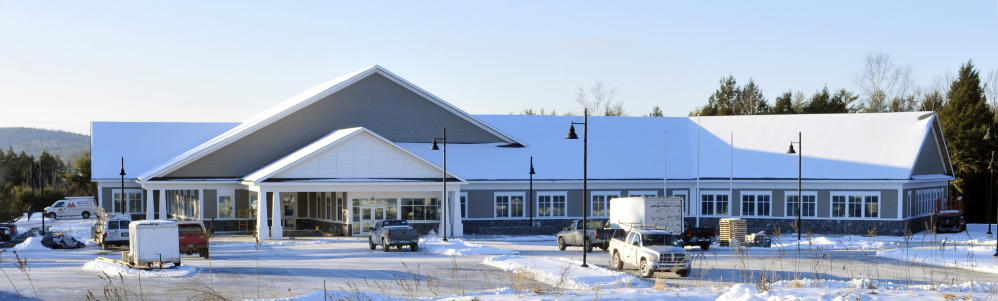 The new Maine Veterans' Homes building being built on Civic Center Drive behind the Skowhegan Savings Bank is set to be occupied in mid-February.