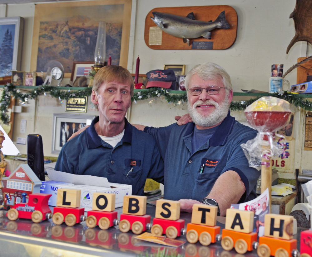 Jeff and Bob Benedict, who recently sold Augusta Seafood, are staying on to help the new owners with the transition.