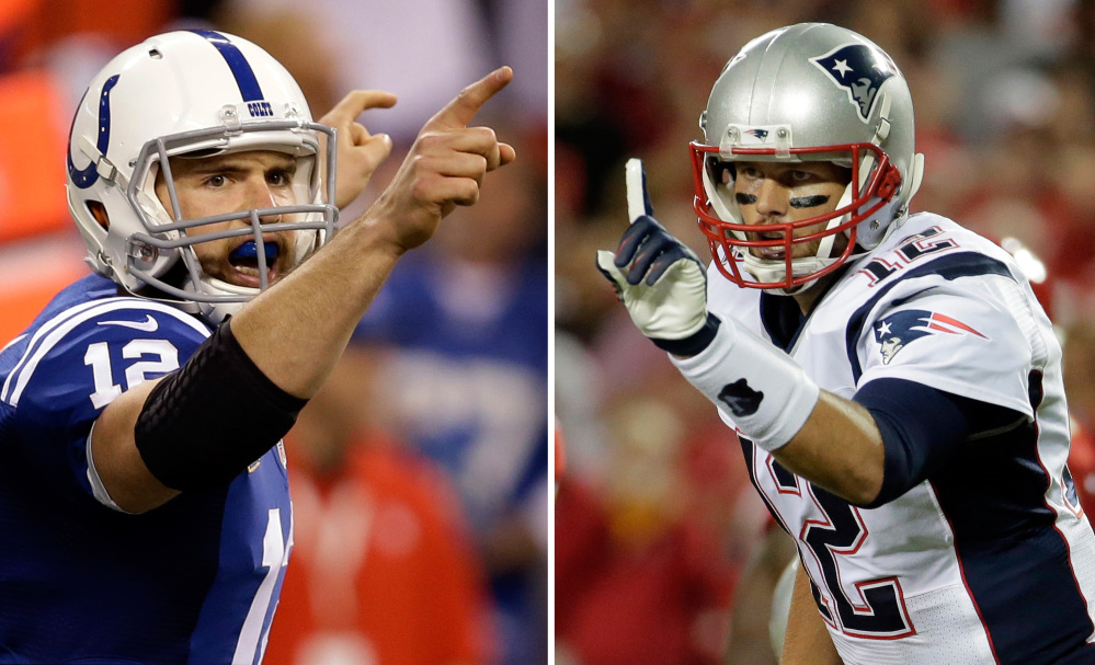 No Tom Brady-Peyton Manning rematch this time. Instead, it will be Brady and Andrew Luck meeting again in a matchup of star quarterbacks when the New England Patriots host the Indianapolis Colts in the AFC championship game Sunday.