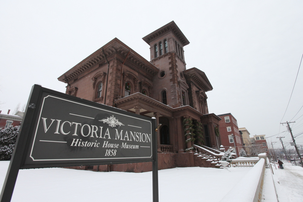Victoria Mansion is seen Monday in Portland, Maine. Under Gov. LePage's proposed budget, cities and towns would be able to collect property taxes from non-profit groups that were previously exempt. The Victoria Society of Maine's property is valued at $923,500 and the tax bill would be $18,470.