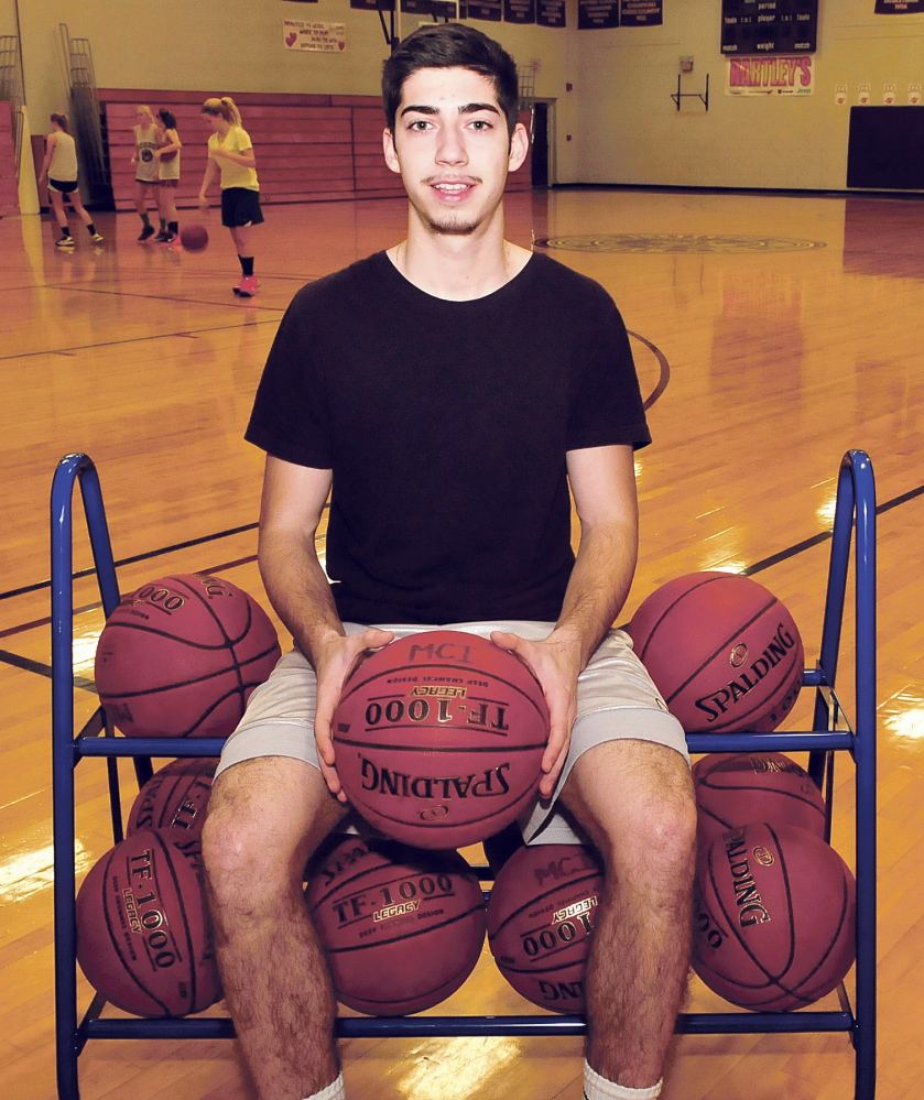 Maine Central Institute basketball player Todor Imsir, a native of Serbia, has had to make adjustments to his game in the United States.