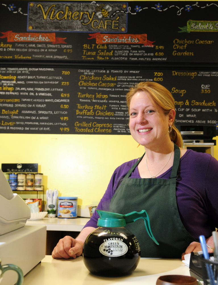 Vickery Cafe owner Colleen Tyler says sales have been higher than expected at her downtown Augusta business.
