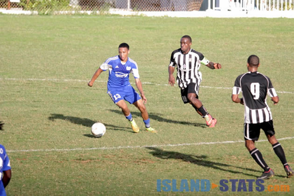 Thomas College freshman Willie Clemons, left, trained with the Bermuda national soccer team this past week.