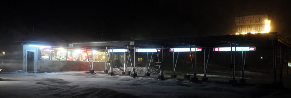 """There was one customer having breakfast at the Hi-Hat Pancake House in Farmingdale during a winter storm around 5:46 a.m. on Tuesday. """"We never close,"""" said waitress Samantha Preshong."""