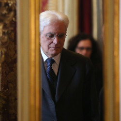 New Italian president Sergio Mattarella arrives at the Constitutional court building near the Quirinal Palace, the official residence of the President of the Italian Republic, in Rome, on Saturday. Italian lawmakers elected Sergio Mattarella, a Constitutional Court justice widely considered to be above the political fray, as the nation's new president on the third day of voting.