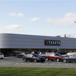 The Takata building, an automotive parts supplier in Auburn Hills, Mich., is the North American subsidiary of the Japanese based Takata Corporation, which supplies seat belts and airbags for the automotive industry. The National Highway Traffic Safety Administration announced more than 2 million Toyota, Chrysler and Honda vehicles are being recalled for faulty air bags that may inflate while the car is running. The agency says about 1 million Toyota and Honda vehicles involved in the new recalls are also subject to a separate recall related to defective Takata air bags that could deploy and rupture with enough force to cause injury or death.