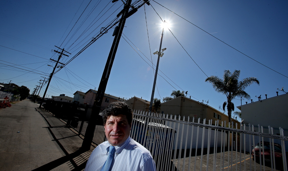 Arnie Corlin equipped several apartment buildings he owns in South Los Angeles with surveillance cameras that have captured video footage used in nearly two dozen homicide cases investigated by the LAPD.Luis Sinco/Los Angeles Times/TNS