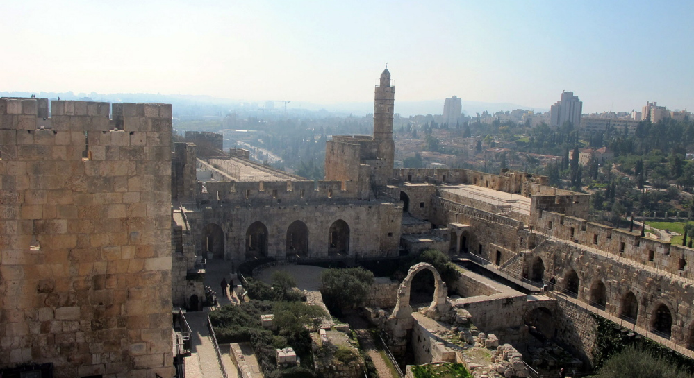 Archaeologists say that the grand palace of Roman Emperor Herod the Great stood in this location in Jerusalem's Old City, and it was likely to have been here that the trial of Jesus by Pontius Pilate took place. After 15 years of archaeological work, the site is open to visitors. Washington Post photos by Ruth Eglash