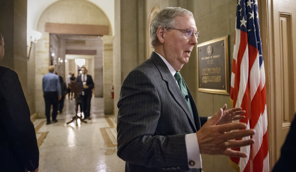 Mitch McConnell, R-Ky., will take over a U.S. Senate in which Republicans have a 54-46 advantage, which includes two independents who lean Democrat. First on the agenda – trying to force construction of the Keystone XL oil pipeline. The Associated Press