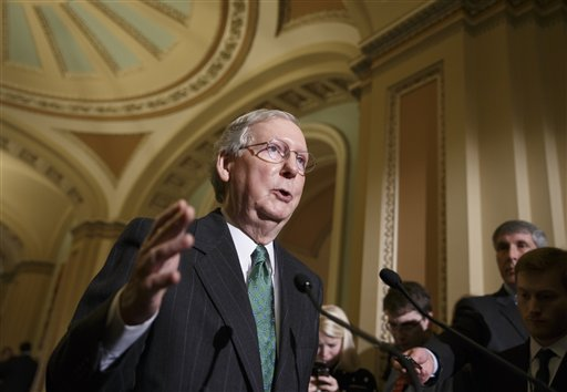 "Senate Majority Leader Mitch McConnell, R-Ky.: ""I've asked my members to restrain themselves."""