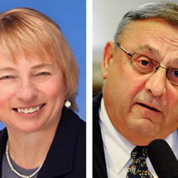 Attorney General Janet Mills and Gov. Paul LePage are sometimes at odds over which cases to pursue in court. File Photo