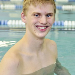 Cony swimmer Noah Aube won the 500-yard freestyle and 200-yard freestyle at the Kennebec Valley Athletic Conference Class A swimming championships Saturday in Bath.