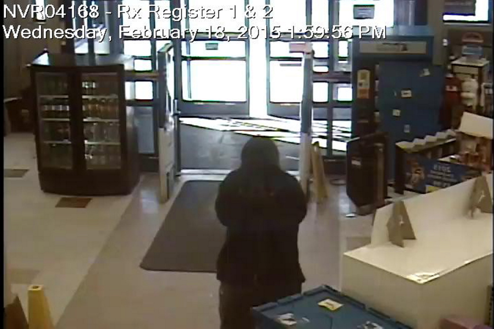 Police are looking for the man who robbed the Spring Street Rite-Aid on Wednesday afternoon in Gardiner.