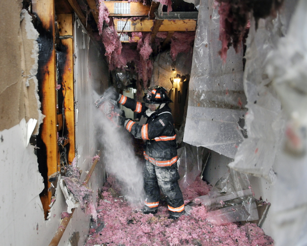 About 30 people were displaced from their homes Feb. 5 when a fire gutted a section of the Highland Terrace apartments in Gardiner.