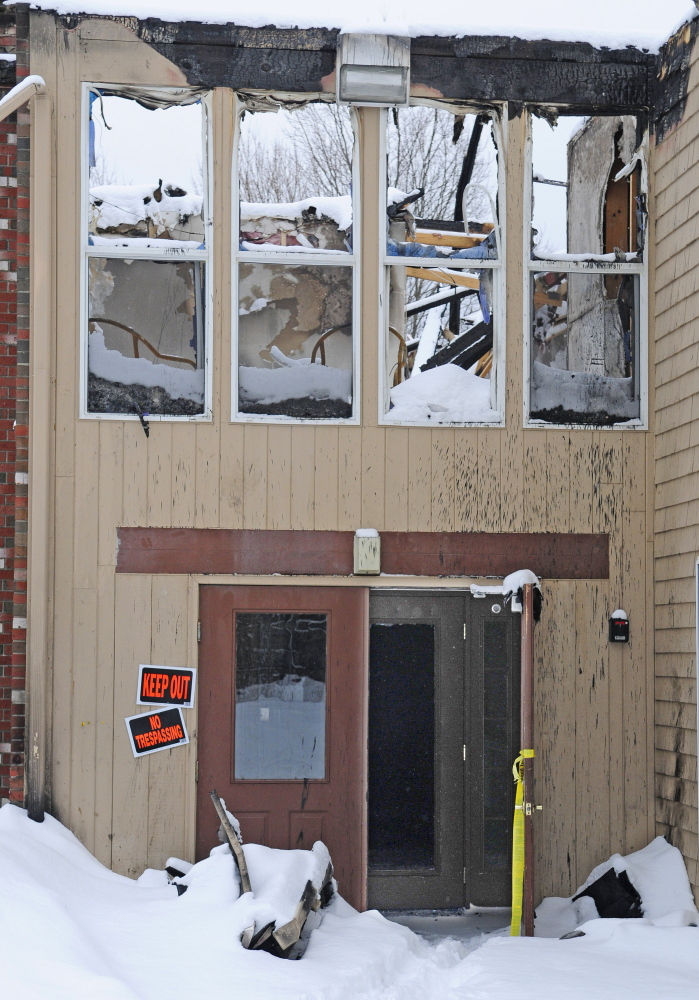 The fire-damaged apartment building on Highland Avenue in Gardiner will be repaired and updated over the next several months.