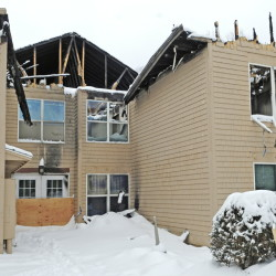 In less than a year, the C.B. Mattson company hopes to renovate these apartments damaged by fire.