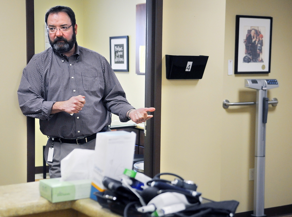 Douglas Jorgensen discussed on Monday his plans to treat alcoholism and other chemical addictions at a new addiction recovery center in Manchester.