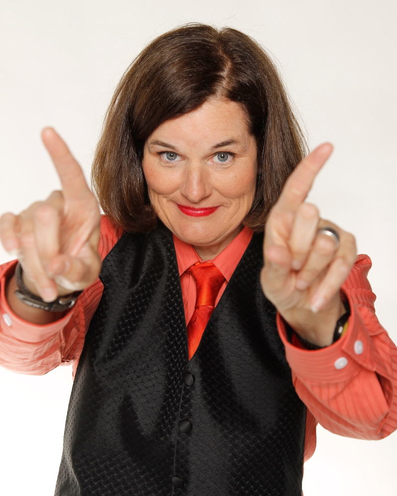 Comedian Paula Poundstone poses during a portrait session at The Ice House Comedy Club in 2012 in Pasadena, Calif.
