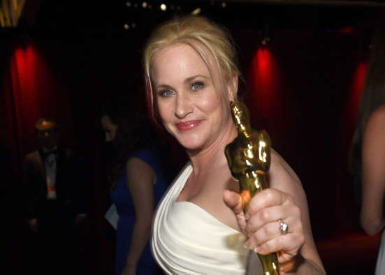 """Patricia Arquette, winner of the award for best actress in a supporting role for """"Boyhood"""", attends the Governors Ball after the Oscars on Sunday in Los Angeles."""
