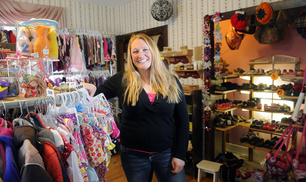 Single mother Shandra Rubchinuk opened a children's consignment store in her Winthrop home two years ago in hopes of having a business that would allow her to be home with her children. Two years later, she is looking for a new location for her growing business, Everything Kids.
