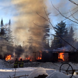 Fire destroys a home Saturday afternoon at 564 Canaan Road in Clinton.