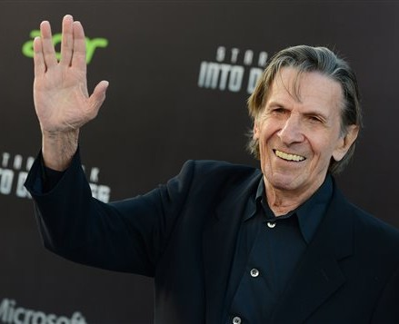 "Leonard Nimoy arrives at the LA premiere of ""Star Trek Into Darkness"" at The Dolby Theater in Los Angeles on May 14, 2013. Nimoy, famous for playing officer Mr. Spock in ""Star Trek"" died Friday in Los Angeles of end-stage chronic obstructive pulmonary disease. The Associated Press"