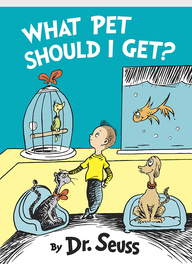 """Cover for New Dr. Seuss Book """"What Pet Should I Get? to be published on July 28. The Associated Press"""