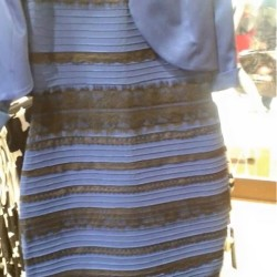 The dress that started it all. What color is it? Screen image from tumblr