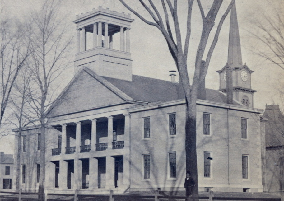 The Kennebec County Courthouse, shown in this photo taken about 1851, will continue to be used for some court functions, even though the new courthouse has opened.