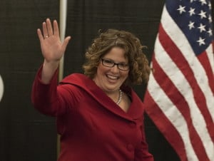Staff file photo Emily Cain, shown in 2014, has announced she will run against U.S. Rep. Bruce Poliquin in a rematch for the 2nd Congressional seat in 2016.