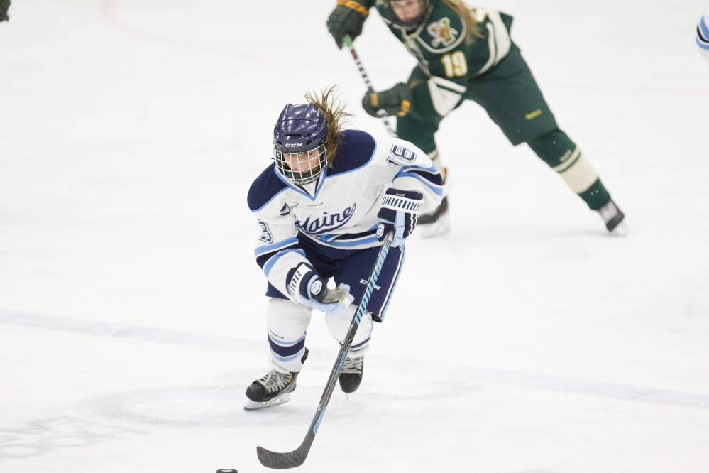 Waterville graduate Katy Massey recently played her final game for the University of Maine women's ice hockey team. Massey was determined to join the team as a walk-on, even when told there wasn't much of a chance. She'll graduate with the most games played for the Black Bears in a career with 132.